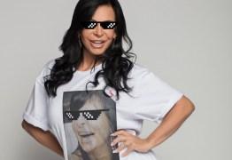 Gretchen lança coleção de camisetas inspiradas em seus memes