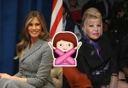 BARRACO: primeira mulher de Trump e Melania se ofendem em público