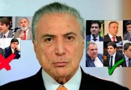 É HOJE: bancada paraibana já tem votos definidos sobre segunda denúncia contra Michel Temer