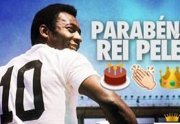 Ao completar 77 anos, Pelé ganha parabéns do Santos: 'Nosso rei'