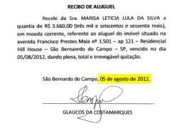 Ministério Público afirma que recibos apresentados por Lula são falsos