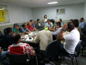 reunião fpf 300x225 - Presidente do Treze aprova formato do Paraibano de 2018