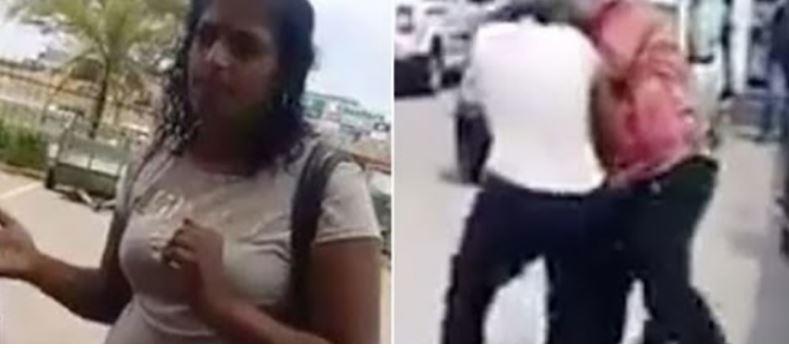 889 1 - VEJA VÍDEO: homem bate na namorada grávida após ser flagrado com amante