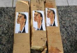 Polícia encontra maconha com caricatura de Jair Bolsonaro