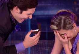 VEJA VÍDEO: Nicolas Prattes faz 'pedido de casamento' à bailarina no 'Dança'