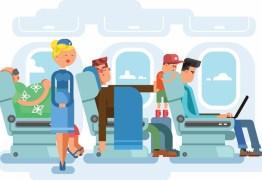 Como encarar o desconforto de viagens longas de avião