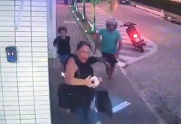Mãe é surpreendida por bandido e deixa filho para trás durante assalto em Cabedelo -VEJA VÍDEO