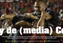 """Imprensa argentina aponta Independiente com """"meia taça"""" e prevê festa no Rio"""