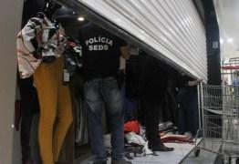 Roupas apreendidas na 'Operação Vitrine', em João Pessoa, são falsas, diz polícia