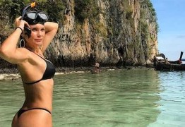 Flávia Alessandra exibe corpaço na Tailândia; vejafotos