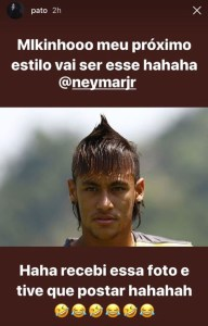neymar cabelo 192x300 - Neymar e Pato trocam provocações pelo instagram