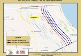 Semob-JP modifica circulação na Avenida Sapé, em Manaíra