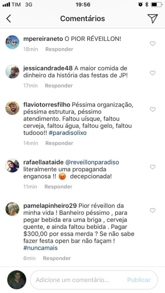 WhatsApp Image 2018 01 03 at 11.33.21 AM - FRAUDE DO RÉVEILLON - Desorganização em festa VIP revolta consumidores: 'festa open bar sem bebida e banheiros sem porta'