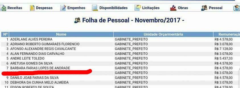WhatsApp Image 2018 01 24 at 9.41.22 AM 1 - GORDA MESADA: Sobrinhas de Ivonete e Manoel Ludgerio ganham quase R$15 mil dos cofres públicos de Campina Grande
