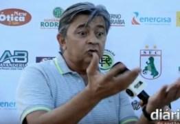 VEJA O VIDEO: Presidente do Sousa denuncia 'proteção' ao Botafogo e pede 'moral' a Amadeu Rodrigues