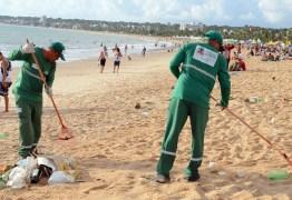 70 toneladas de lixo foram recolhidas na orla de João Pessoa após réveillon