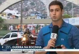 Gato de óculos escuros chama atenção em passagem da Rede Globo