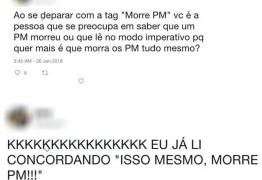 Polícia Civil demite estagiária que escreveu 'morre PM' em rede social
