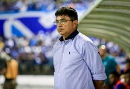 Diretoria do Treze promete anunciar substituto de Oliveira Canidé até esta quarta-feira