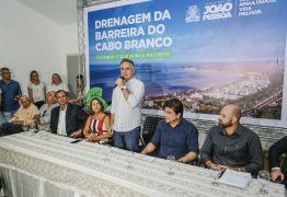 Luciano Cartaxo autoriza início das obras de drenagem da Barreira do Cabo Branco