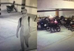 VEJA VÍDEO: Homem é flagrado danificando motocicleta no estacionamento do empresarial Royal Trade Center, em JP