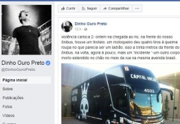 Em rede social, Dinho Ouro Preto relata assalto à sua equipe na Av. Brasil