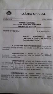 documento - CENSURA: Vice-prefeito de Solânea invade rádio do sistema correio, agride vereador e impede programa