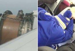 VEJA VÍDEO: Turbina de avião se desintegra durante o voo