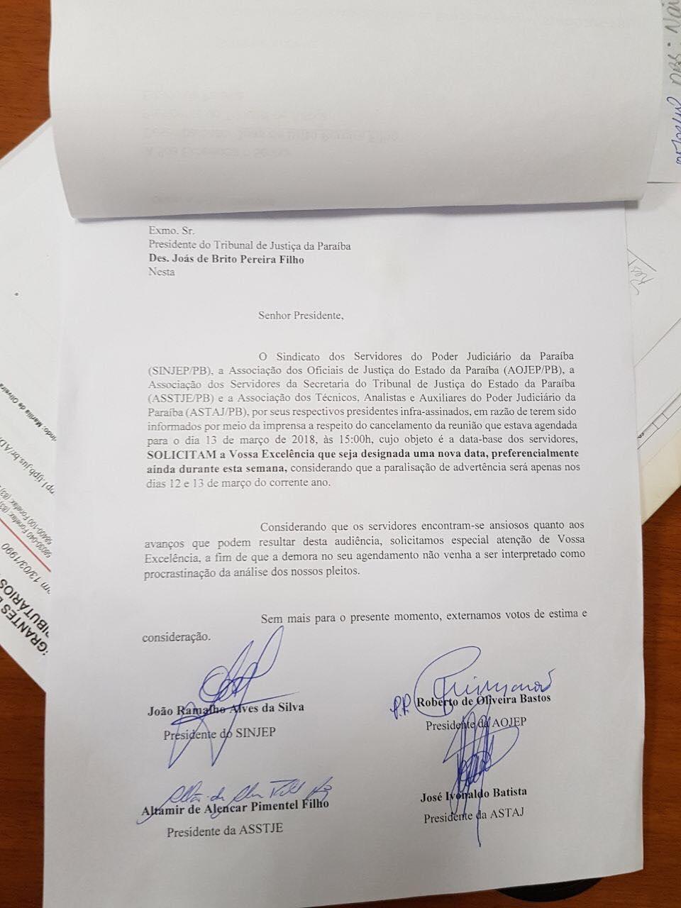 29186905 1754165274639631 5103619808595804160 o - NO MEIO DA PARALISAÇÃO: Presidente do TJ desmarca reunião com representantes de servidores