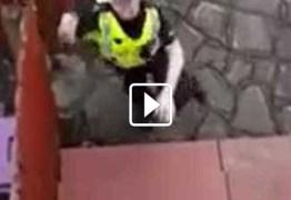 Bandido tenta arrombar casa, é filmado por morador e preso em flagrante; veja vídeo