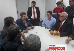 Vereador Marcos Henriques discute a reabertura da agência do BB no município de Taperoá