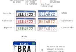 NOVAS PLACAS: Prazo para implantação de placas no padrão Mercosul é 21 de janeiro, avisa Detran PB