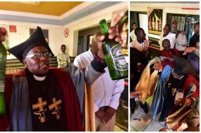 igreja bebida - Igreja batiza fiéis com bebidas alcoólicas e consumo é liberado nas celebrações -VEJA VÍDEO