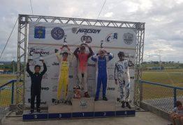 Jovem Pessoense de 14 anos vence etapa do paraibano de kart pela primeira vez