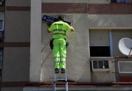 Madri retira placas de ruas com nomes da era da ditadura Franco