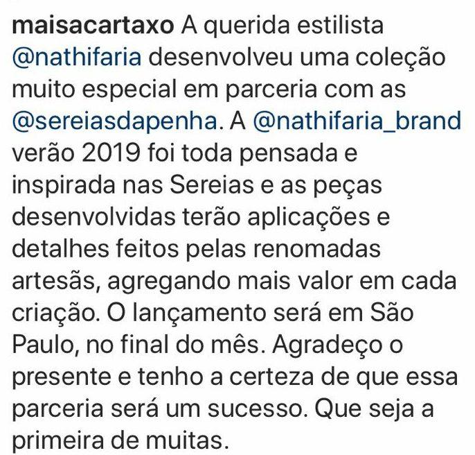 IMG 20180425 WA00162 e1524673595274 - Estilistas paraibanos reclamam de parceria de Maísa Cartaxo com profissional do Rio Grande do Norte