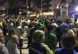 Em João Pessoa, manifestantes pedem prisão do ex-presidente Lula