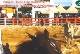 VEJA VÍDEO: Vaqueiro é assassinado com vários tiros durante vaquejada, em São Bento