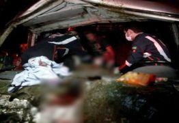 Batida de van com três cavalos deixa quatro pessoas feridas