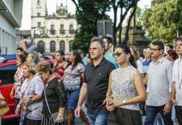 Prefeito da Capital e primeira-dama participam de procissão de Corpus Christi