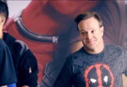 Em propaganda, Barrichello chega em primeiro para comprar ingresso de Deadpool 2