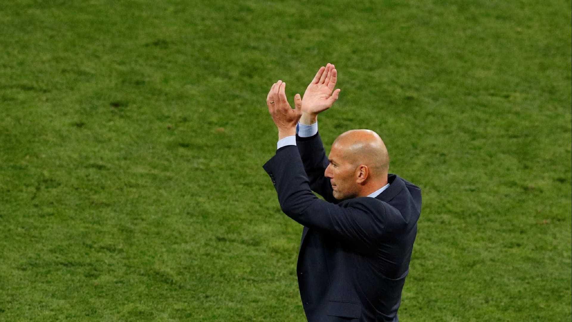 zidane - Zidane comenta pandemia e volta do futebol: 'Complicado e estranho'