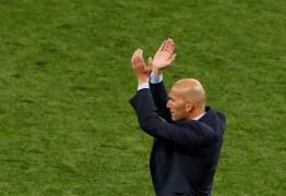 Zidane comenta pandemia e volta do futebol: 'Complicado e estranho'