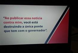 JORNALISMO DE OPOSIÇÃO: Durante palestra Roberto Cavalcanti expõe que está em rota de colisão com o governo Ricardo Coutinho