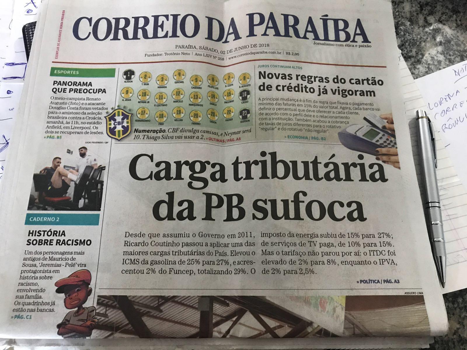 WhatsApp Image 2018 06 07 at 07.40.53 - ROBERTO JÁ ESCOLHEU UM LADO: Sistema Correio abre as 'baterias' contra o Governo Ricardo Coutinho