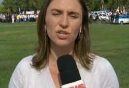 Equipe da GloboNews é atacada com pedra durante reportagem ao vivo