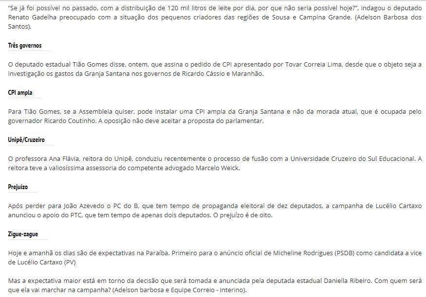 lena 2 - ROBERTO JÁ ESCOLHEU UM LADO: Sistema Correio abre as 'baterias' contra o Governo Ricardo Coutinho