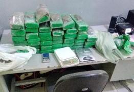 Polícia aprende cerca de 40 quilos de maconha dentro de casa abandonada na Capital