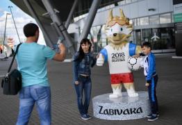 Estátua de mascote da Copa de quase 2 metros é roubada na Rússia