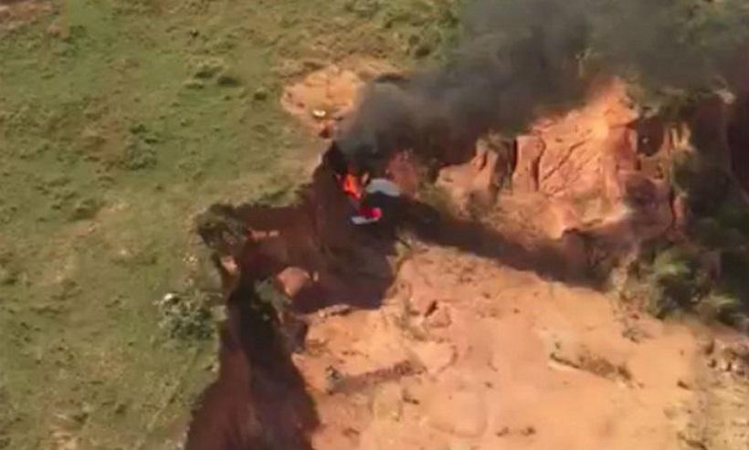 20180721172757681459i - TRAGÉDIA: Queda de avião ultraleve deixa dois mortos